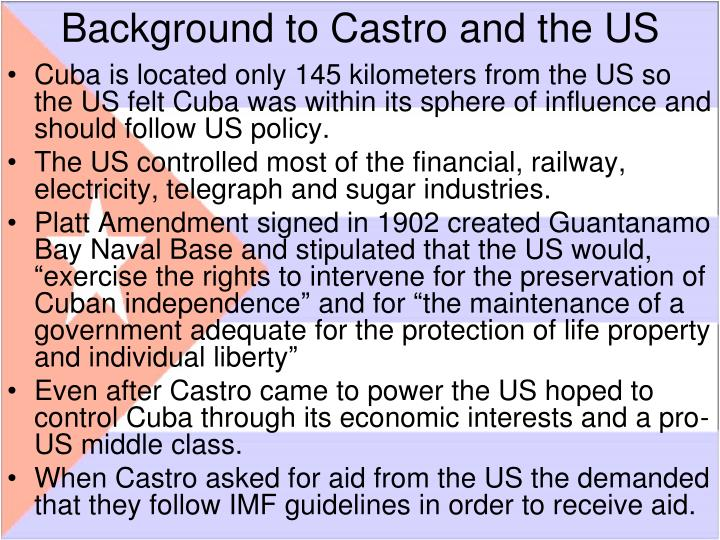 Background to Castro and the US