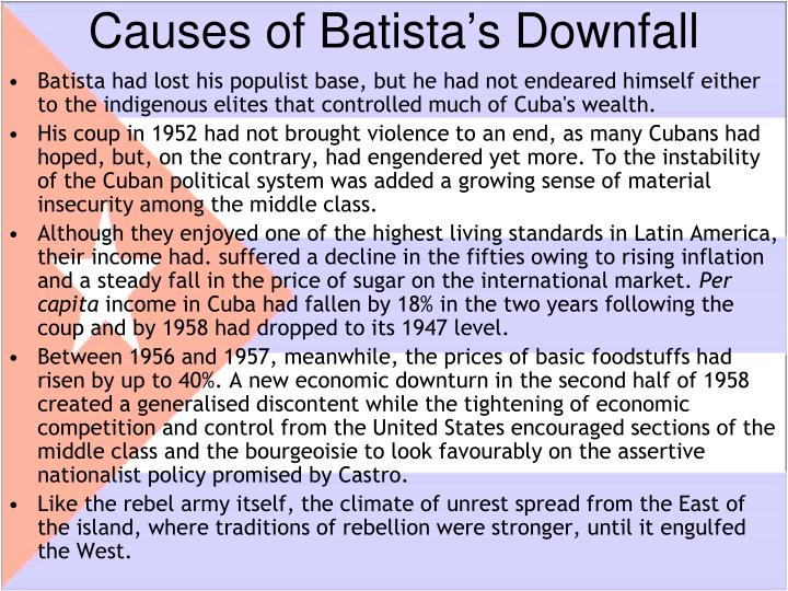 Causes of Batista's Downfall