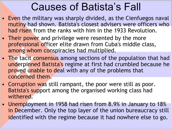 Causes of Batista's Fall