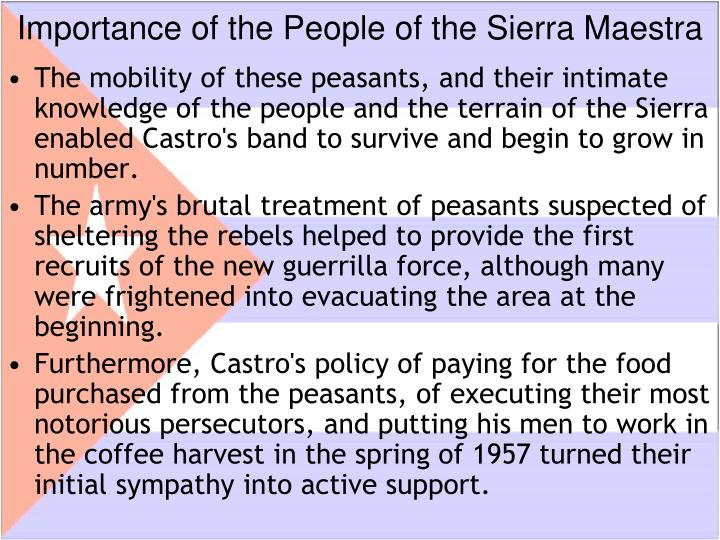 Importance of the People of the Sierra Maestra