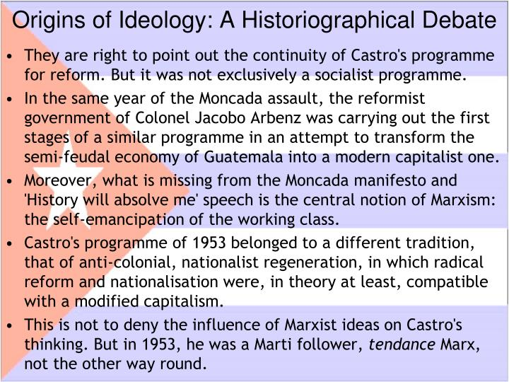 Origins of Ideology: A Historiographical Debate