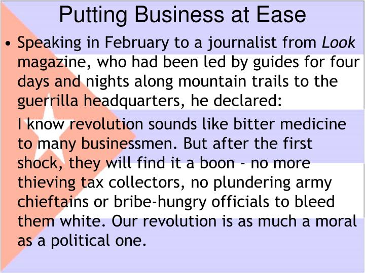 Putting Business at Ease