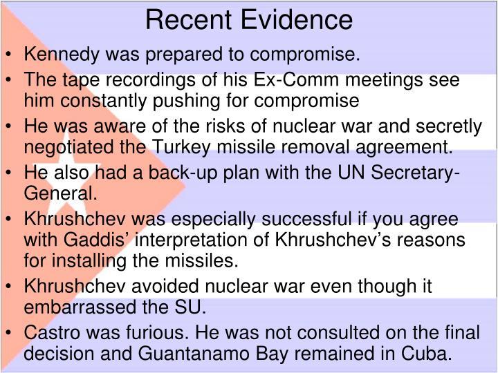 Recent Evidence