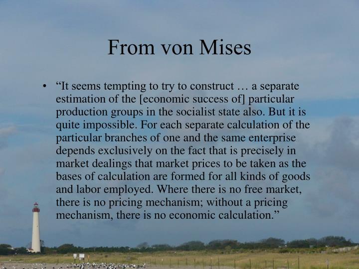 From von Mises