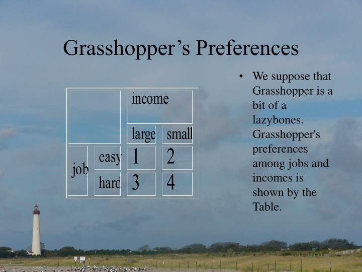 Grasshopper's Preferences