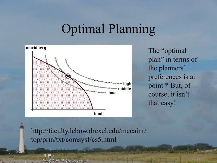 Optimal Planning