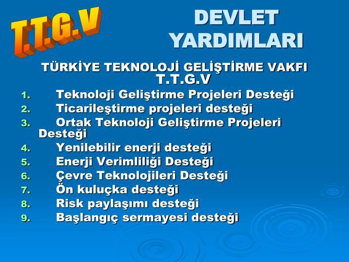 DEVLET YARDIMLARI