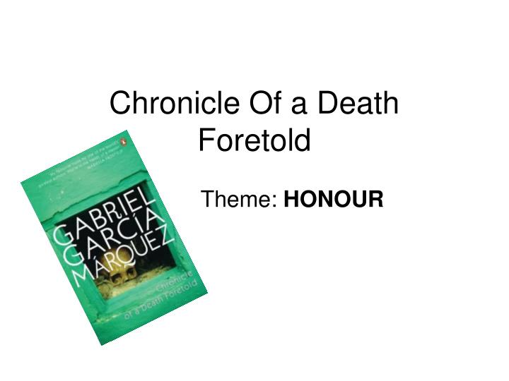 a plot summary of the chronicle of a death foretold