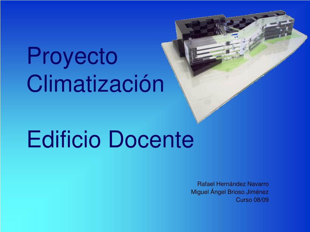 proyecto climatizaci n edificio docente l.