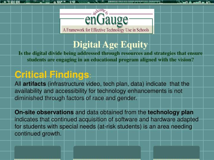Digital Age Equity