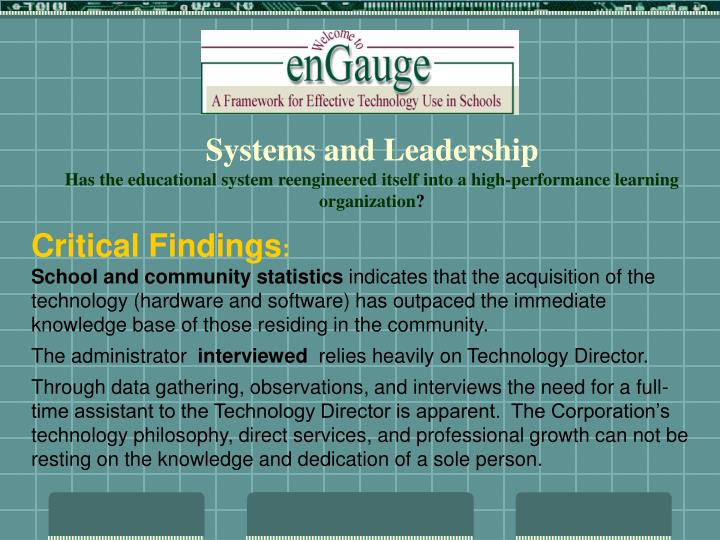 Systems and Leadership