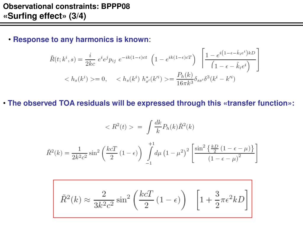 Observational constraints: BPPP08