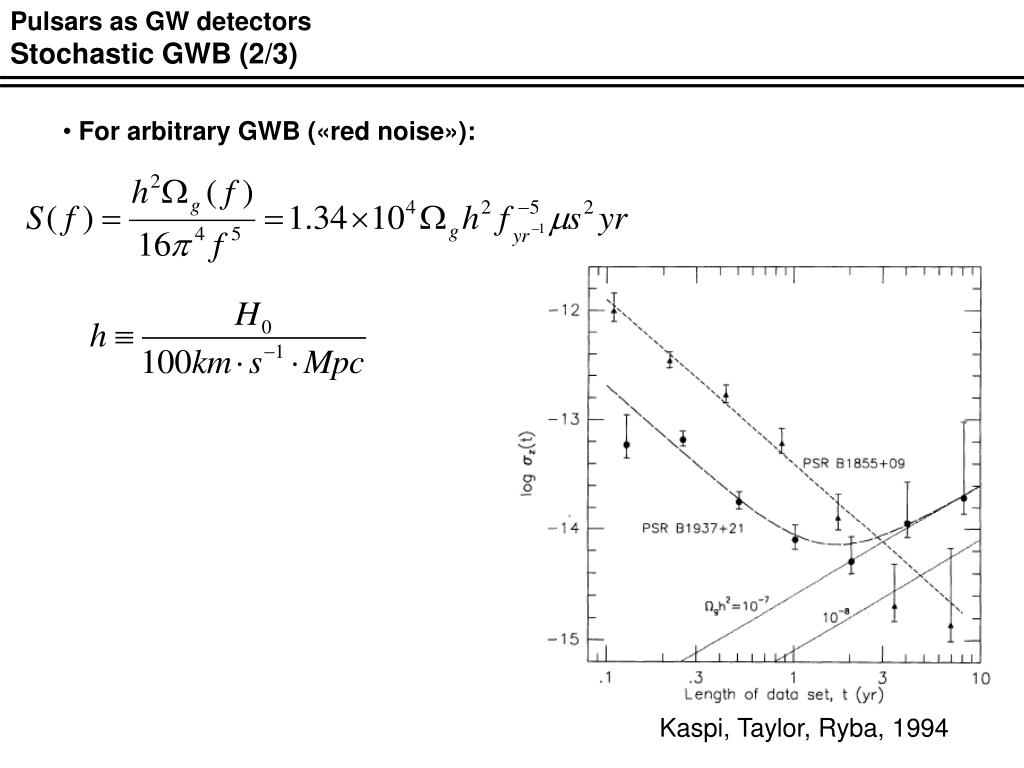 Pulsars as GW detectors