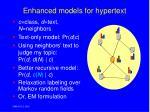 enhanced models for hypertext