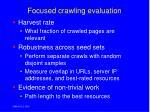 focused crawling evaluation