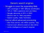 generic search engines