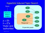 hyperlink induced topic search