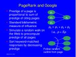pagerank and google