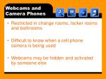 webcams and camera phones