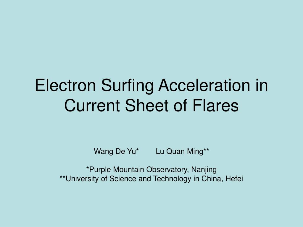 electron surfing acceleration in current sheet of flares l.