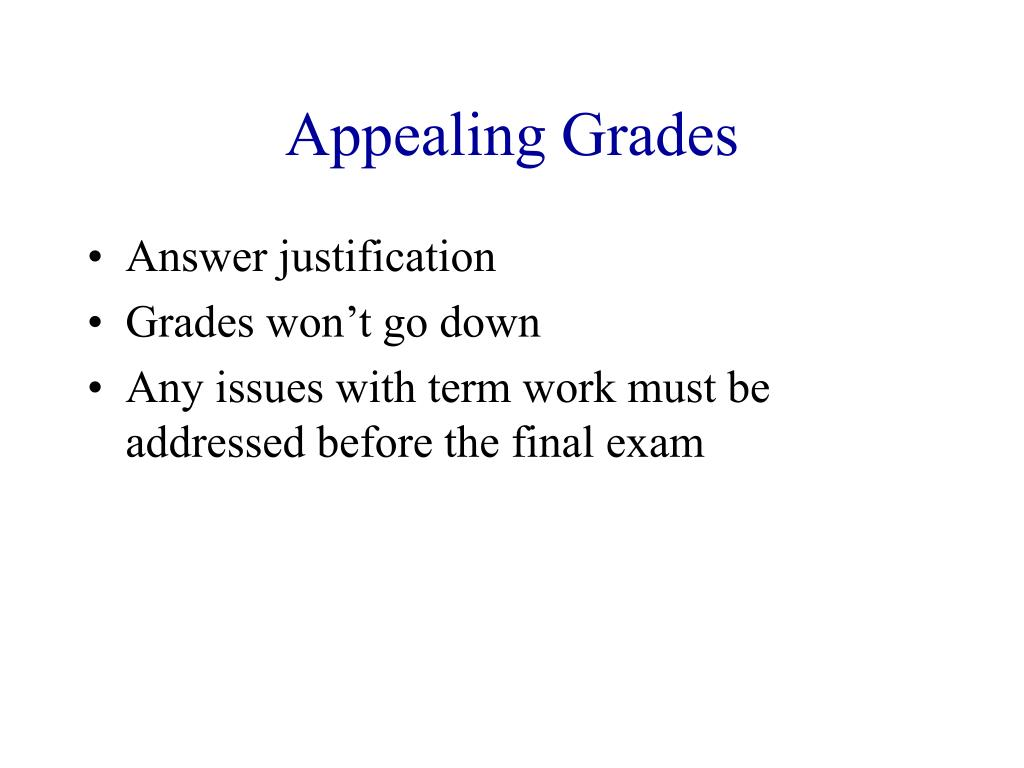 Appealing Grades