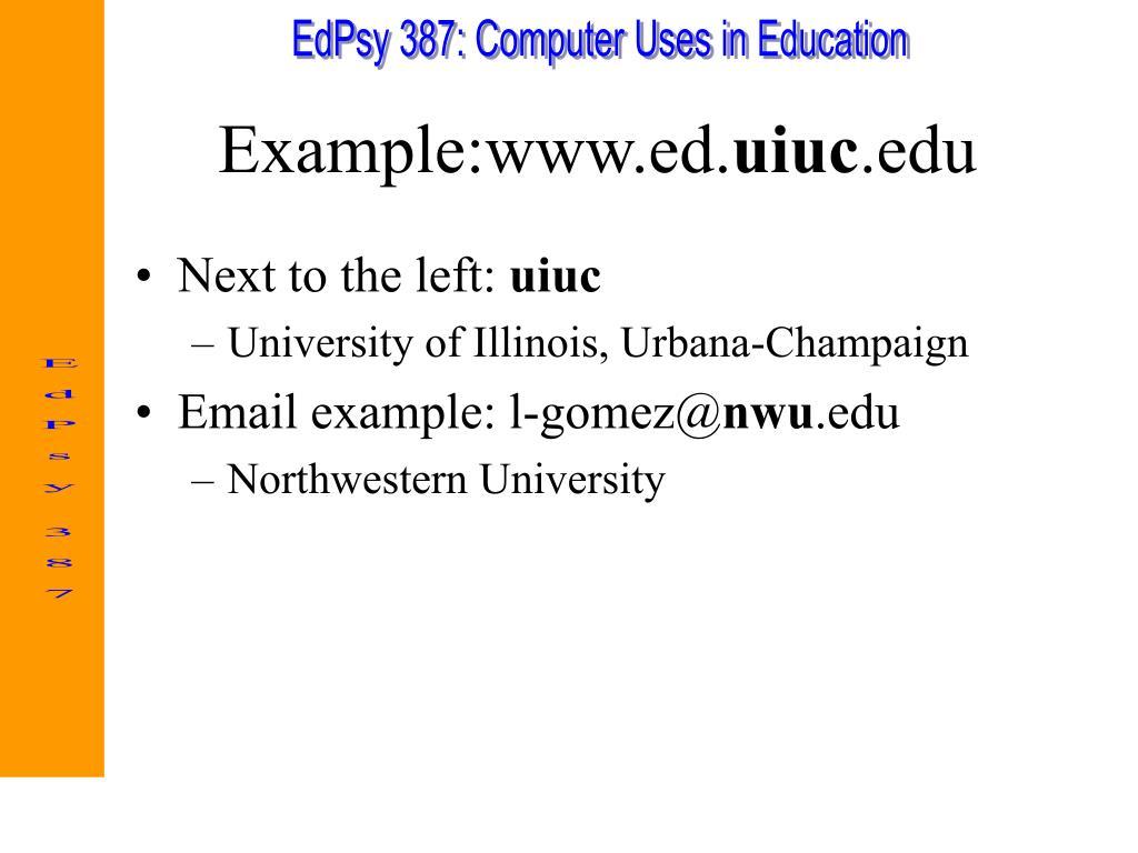 Example:www.ed.