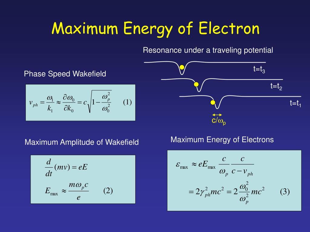 Maximum Energy of Electron