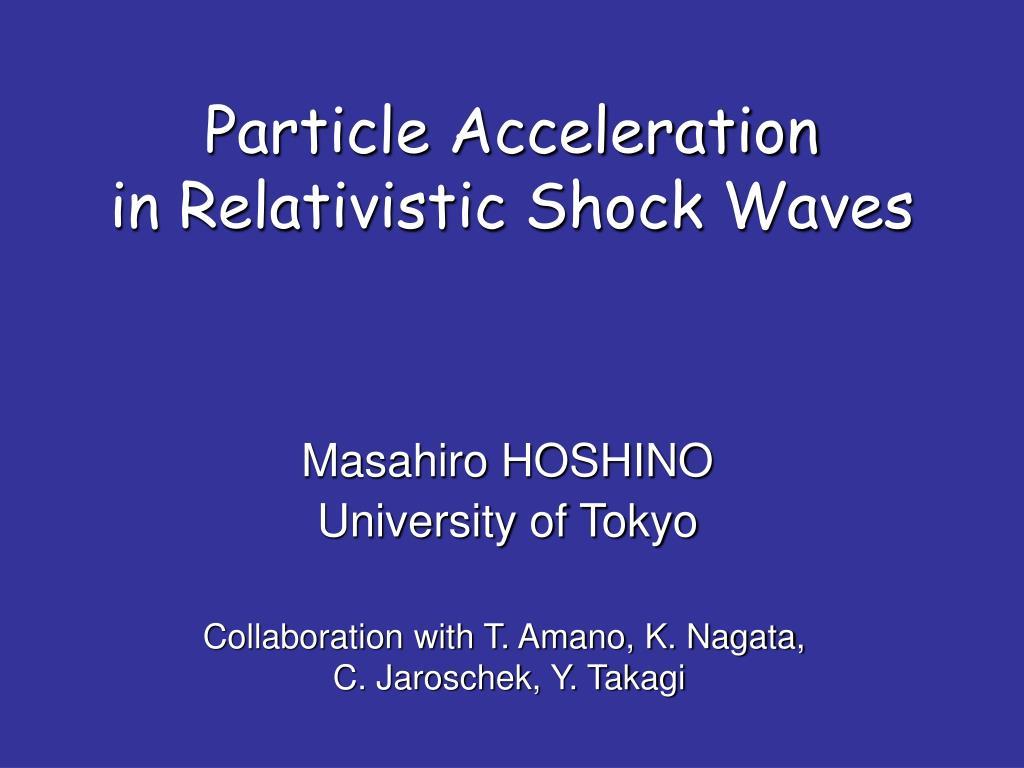Particle Acceleration