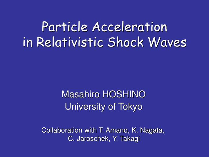 Particle acceleration in relativistic shock waves