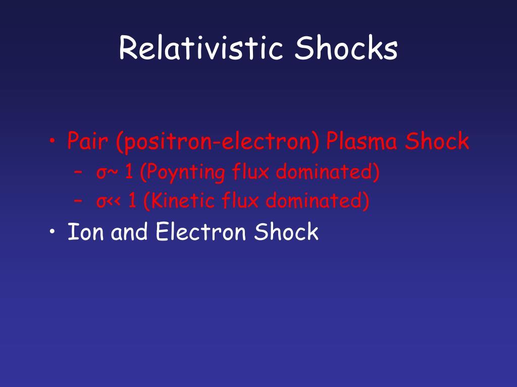 Relativistic Shocks