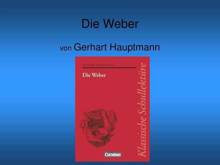 die weber von gerhart hauptmann n.
