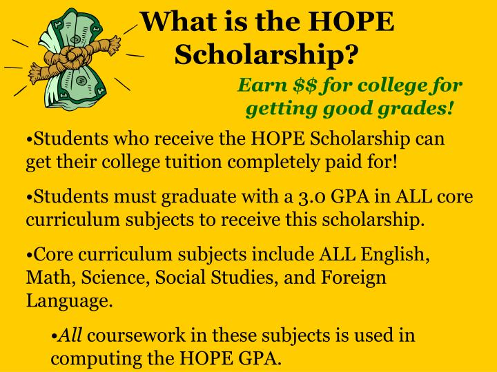 What is the HOPE Scholarship?