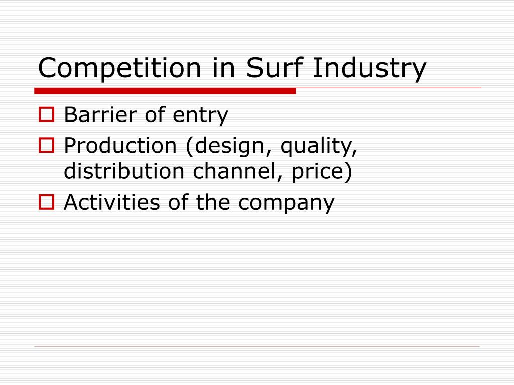 Competition in Surf Industry