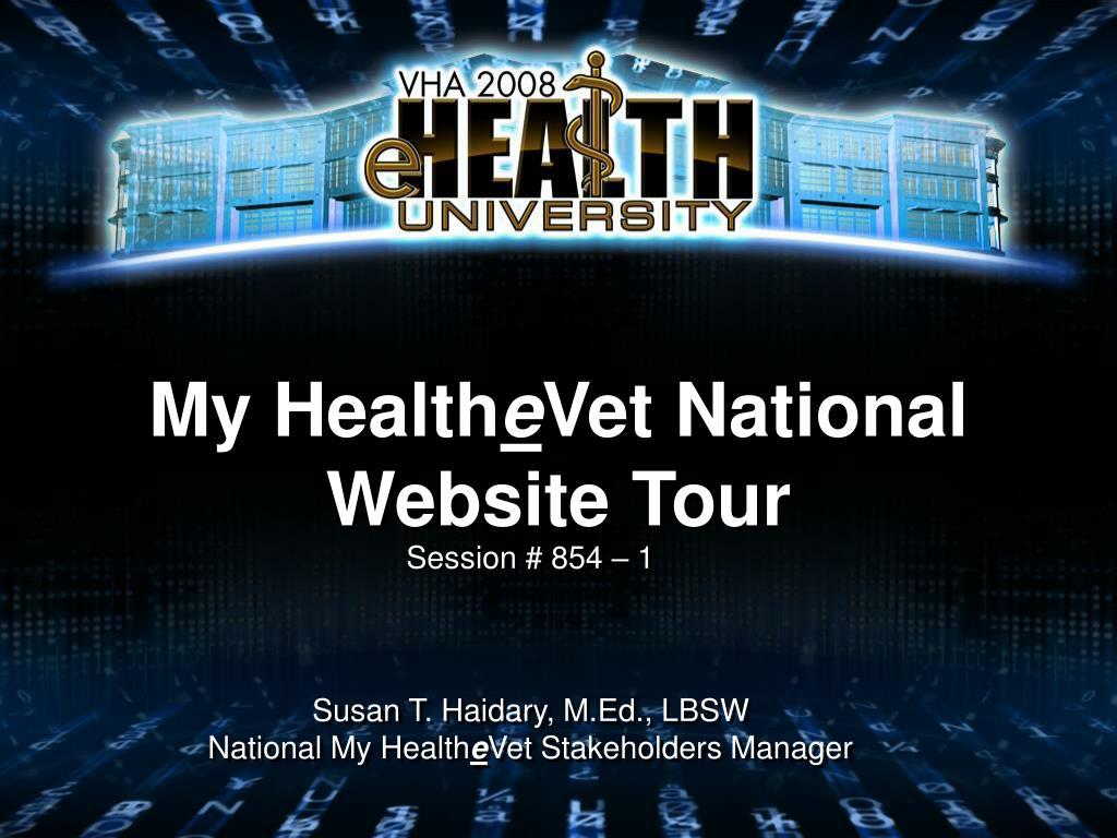 my health e vet national website tour l.