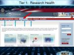 tier 1 research health