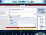 tier 2 add new reading