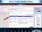 tier 2 family health history