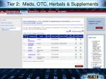 tier 2 meds otc herbals supplements