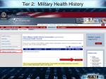 tier 2 military health history