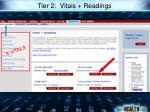 tier 2 vitals readings