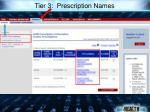 tier 3 prescription names