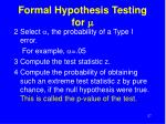 formal hypothesis testing for m27