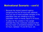 motivational scenario cont d