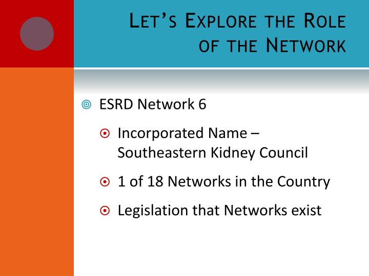 Let's Explore the Role of the Network
