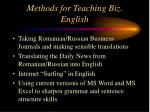 methods for teaching biz english