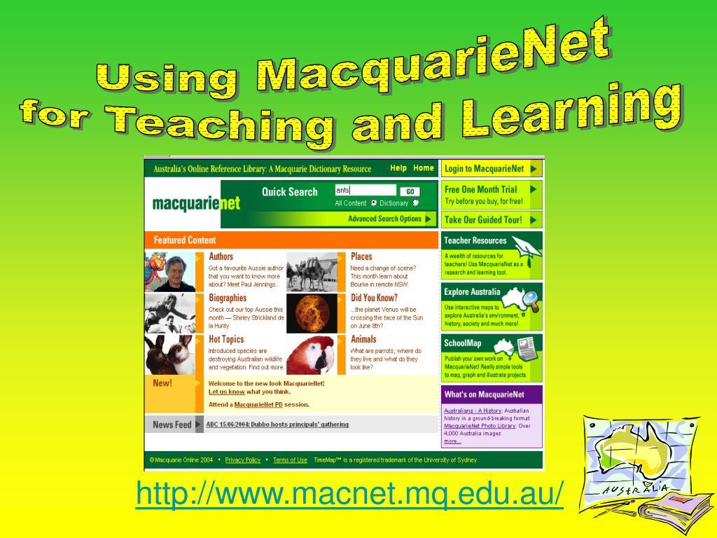 http www macnet mq edu au