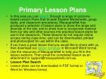 primary lesson plans