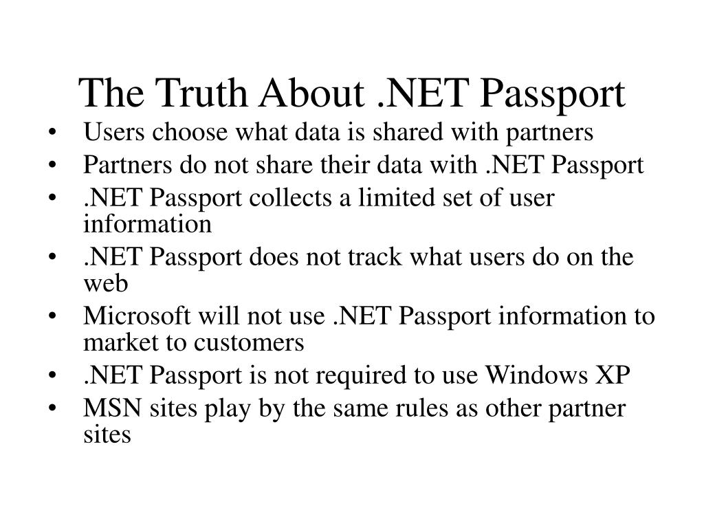 The Truth About .NET Passport