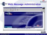 web message administrator