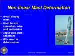 non linear mast deformation